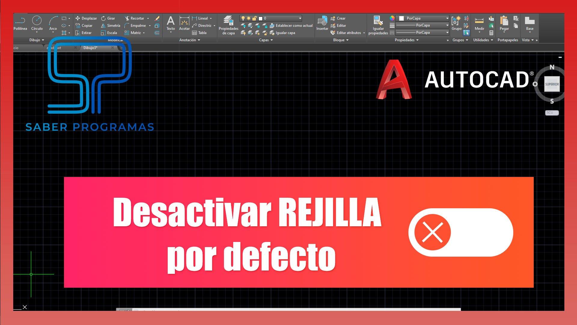 Desactivar rejilla en Autocad por defecto
