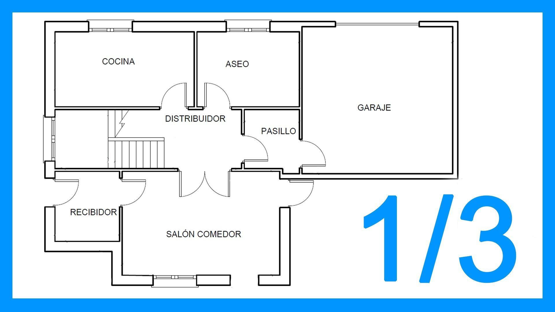 Autocad – 1/3 Dibujar el plano de una casa paso a paso en Autocad.