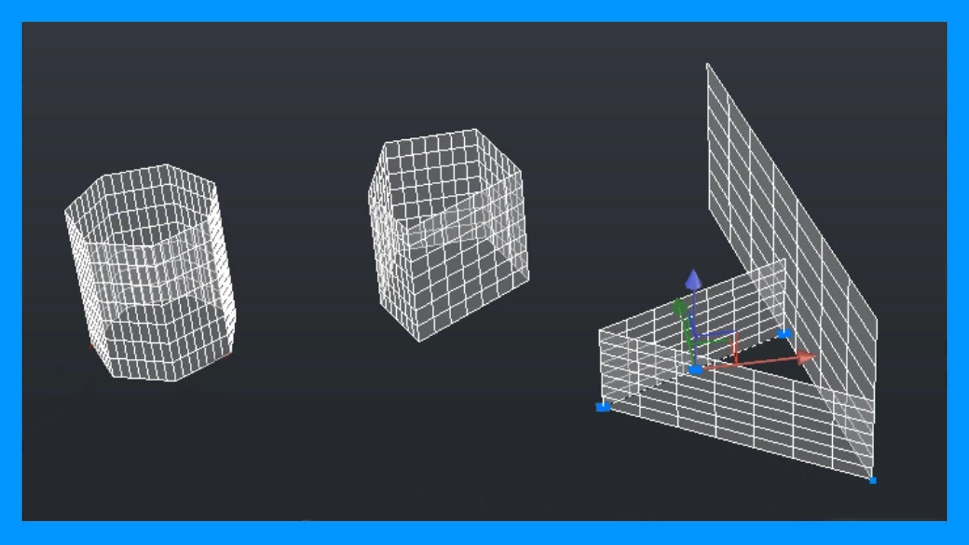 Autocad – 1/4 Superficies 3D; superficie plana, extrusión y asociatividad.