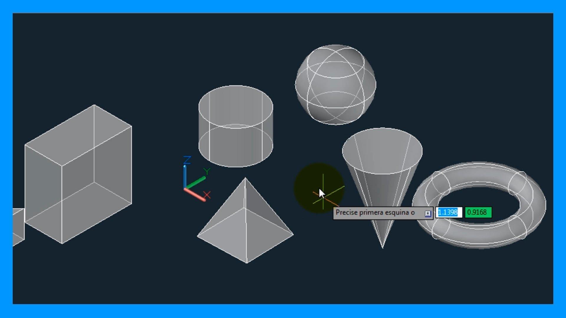 Autocad – 1/7 Iniciación 3D, básico 3D; Espacio modelado 3D, órbita, vistas, estilos 3D.