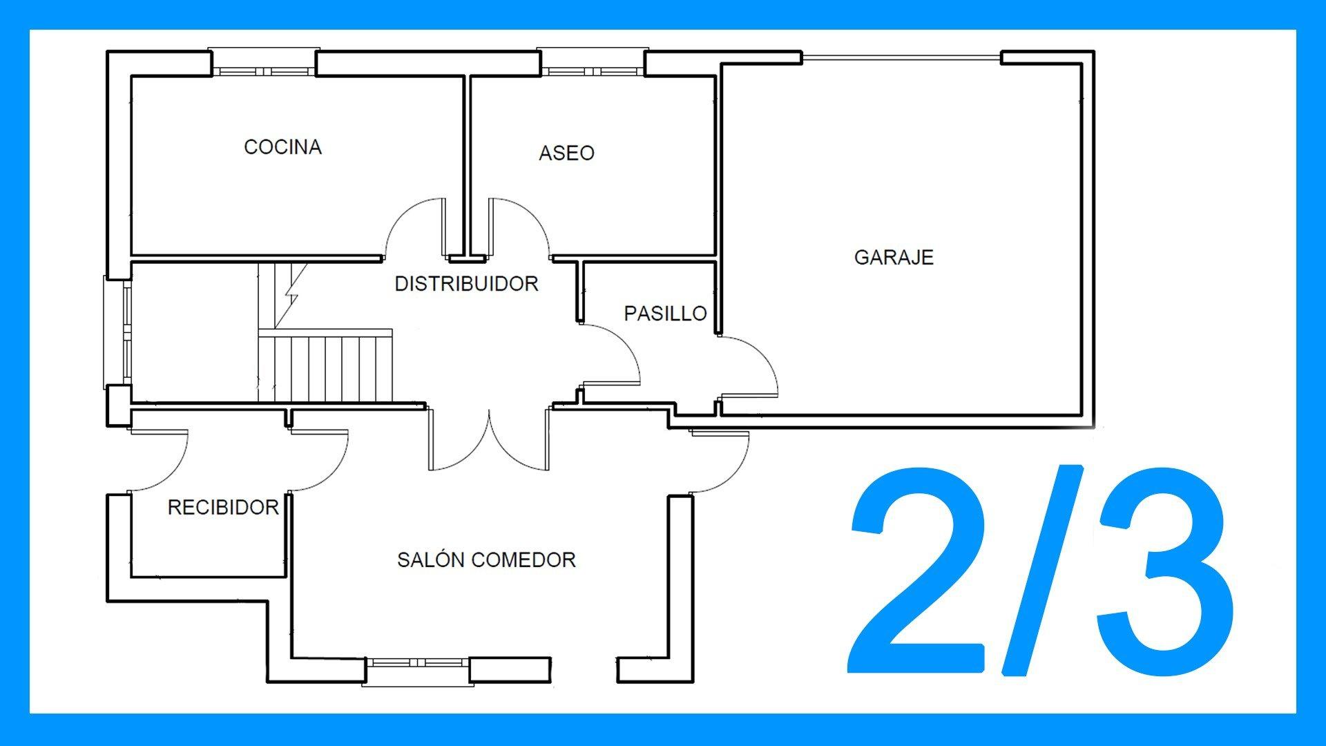 Autocad – 2/3 Dibujar el plano de una casa paso a paso en Autocad.