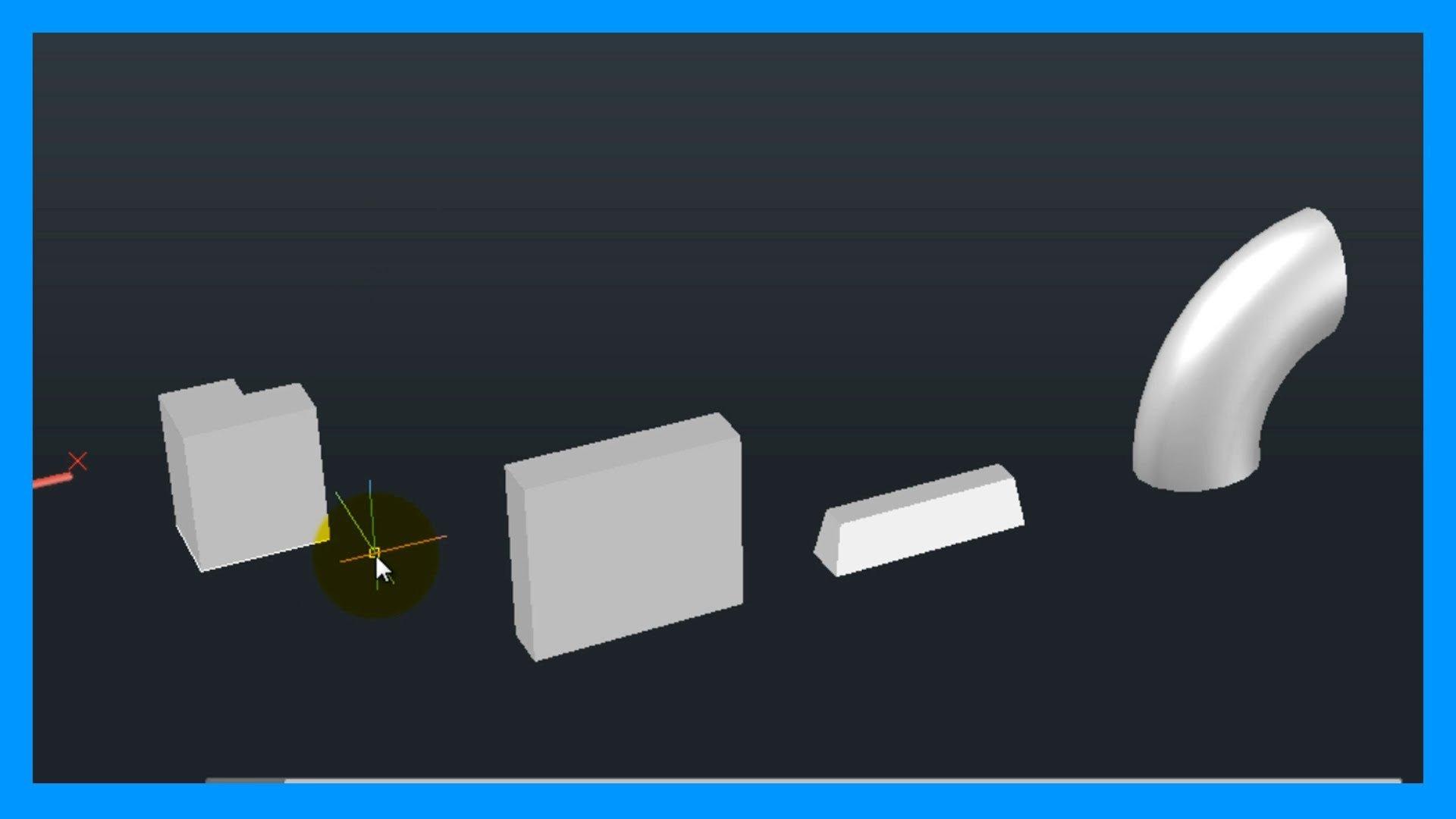 Autocad – 2/7 Iniciación 3D, básico 3D; sólidos, extrusión de superficies y pulsatirar.