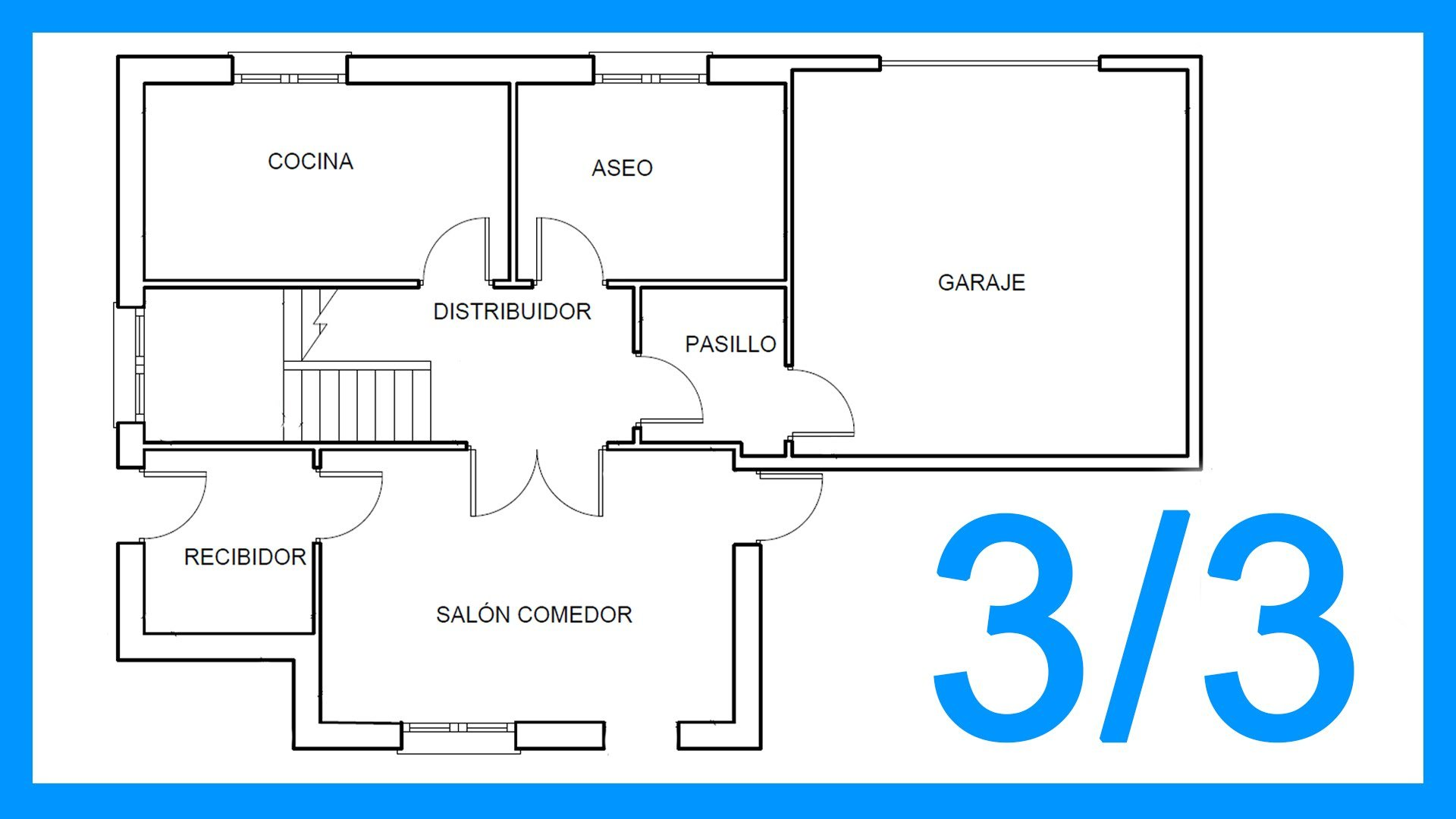 Autocad – 3/3 Dibujar el plano de una casa paso a paso en Autocad.