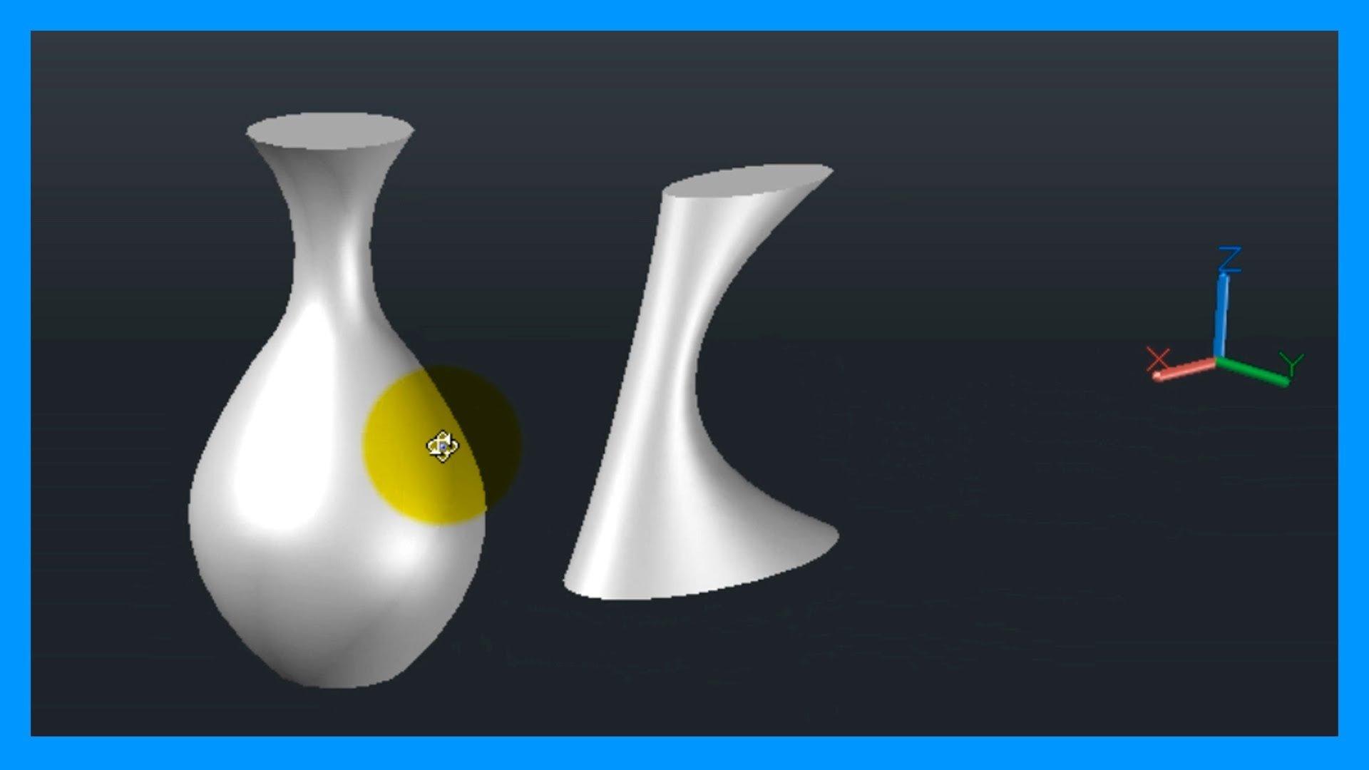Autocad – 3/7 Iniciación 3D, básico 3D; revolución, barrer y solevar.