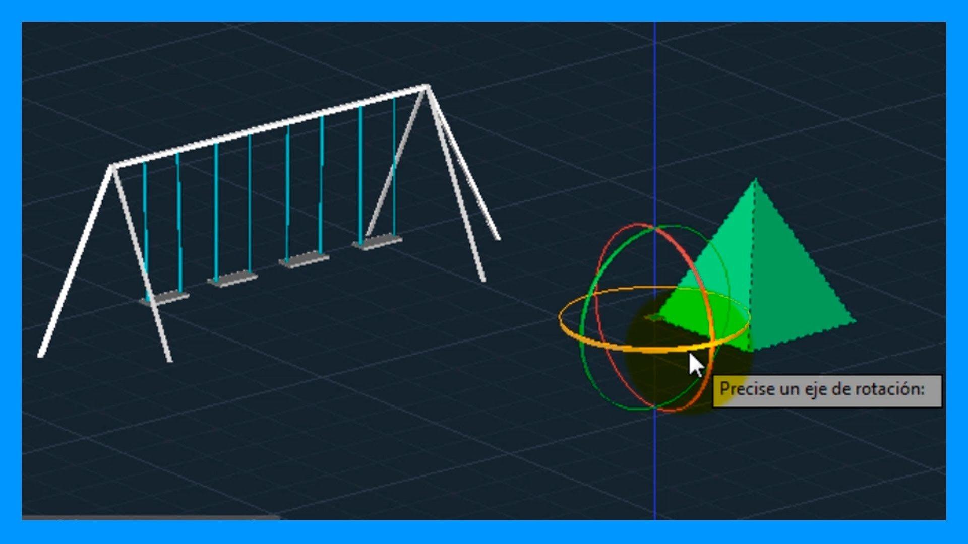 Autocad – 4/7 Iniciación 3D, básico 3D; gizmos: desplazar 3D, rotar 3D, escalar 3D.
