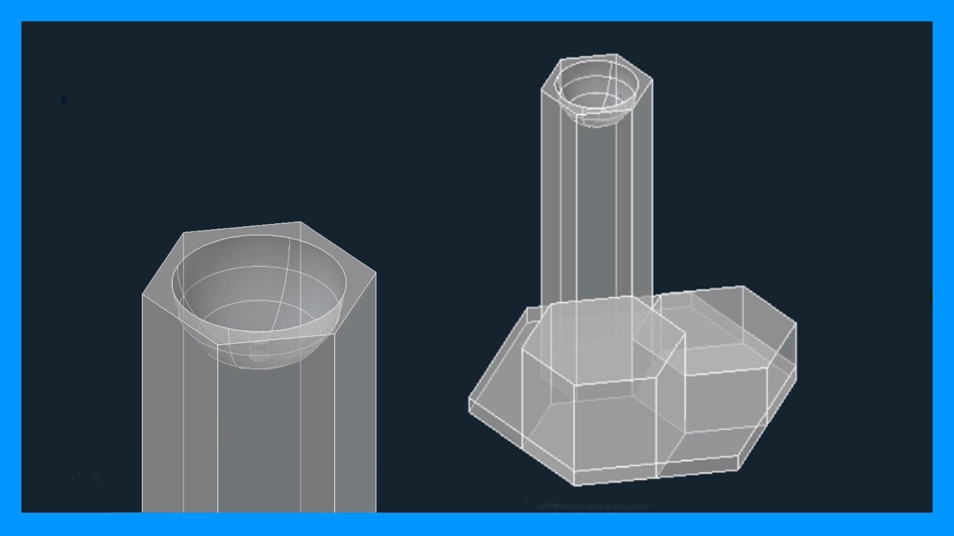 fuente 3D en autocad paso a paso.