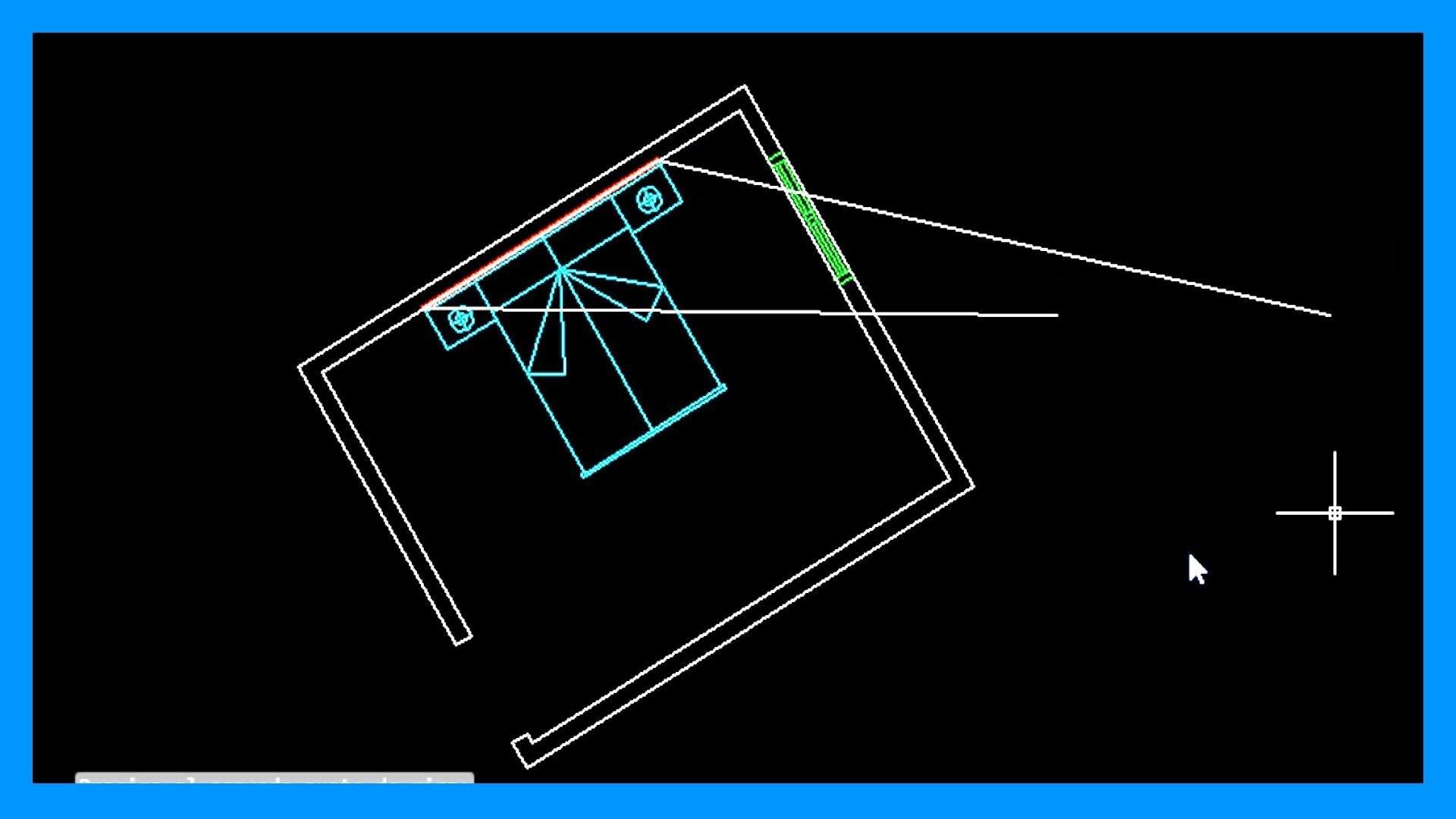 Alinear en Autocad. Alinear objeto respecto de una línea.