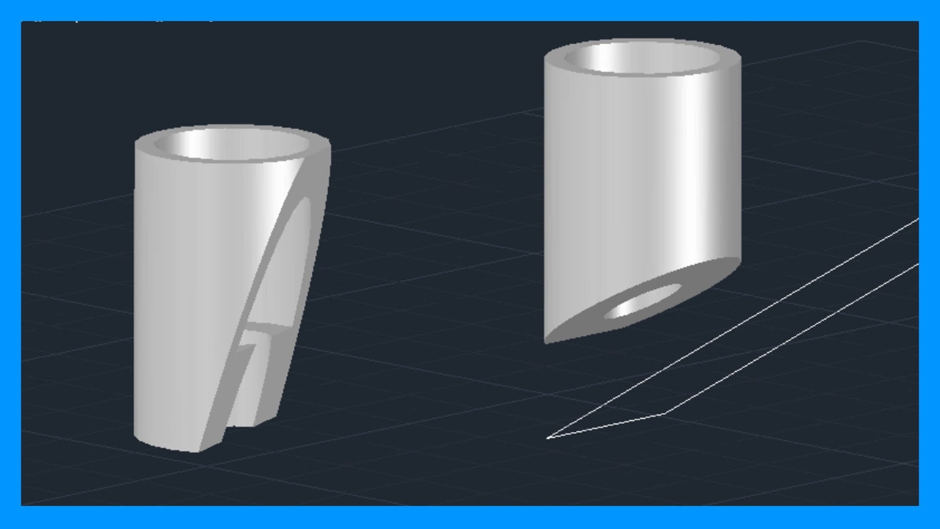 Autocad – Cortar sólidos 3D. Seccionar sólidos.