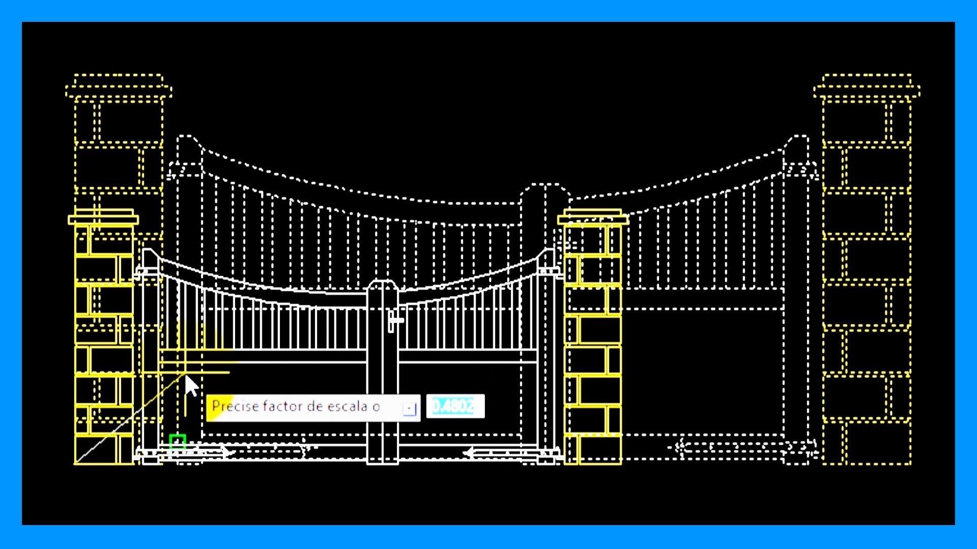 Autocad – Escalar objetos, factor de escala, escalar con referencia.