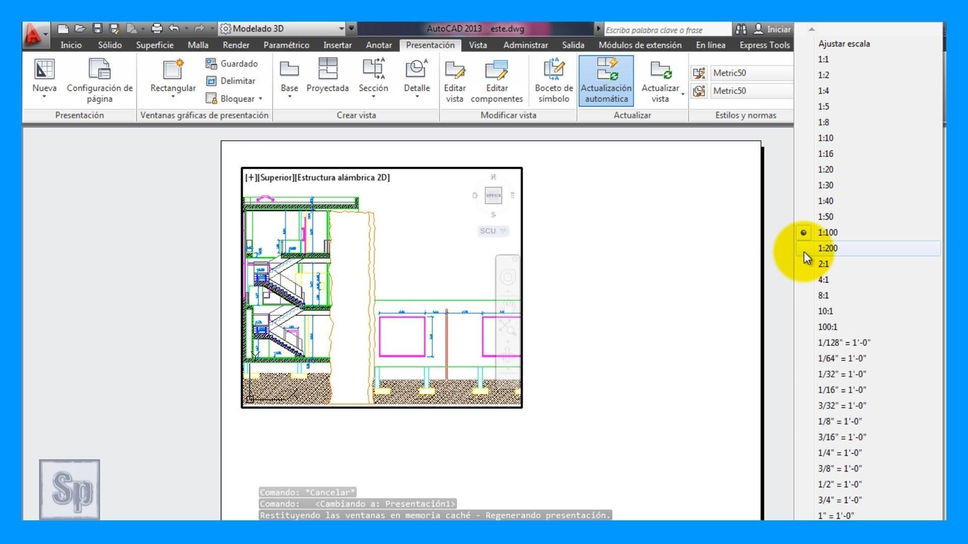 Autocad – Escalas, presentación a escala para imprimir. Imprimir a escala.