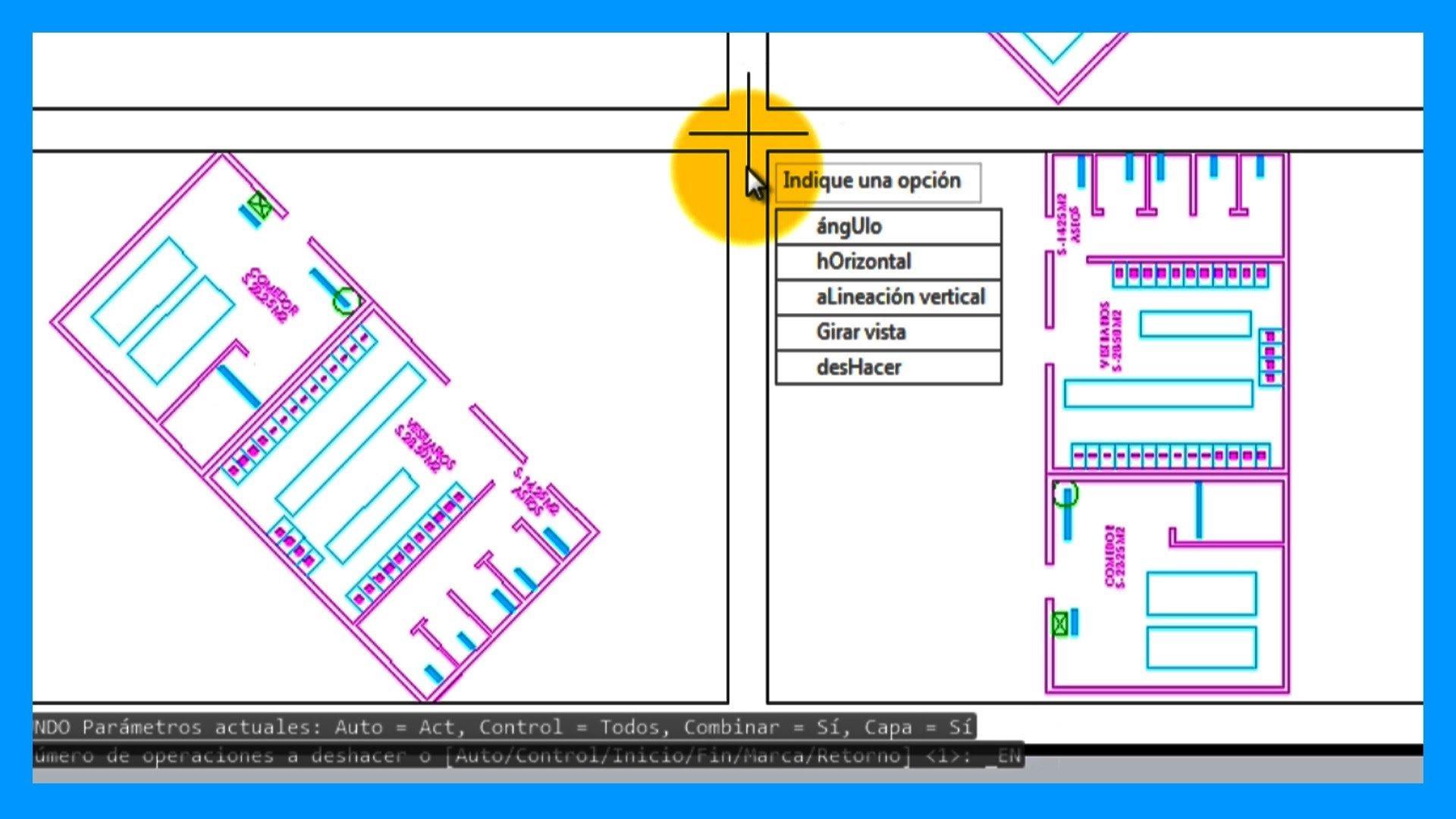 Autocad – Girar vista de una ventana gráfica en el espacio papel.