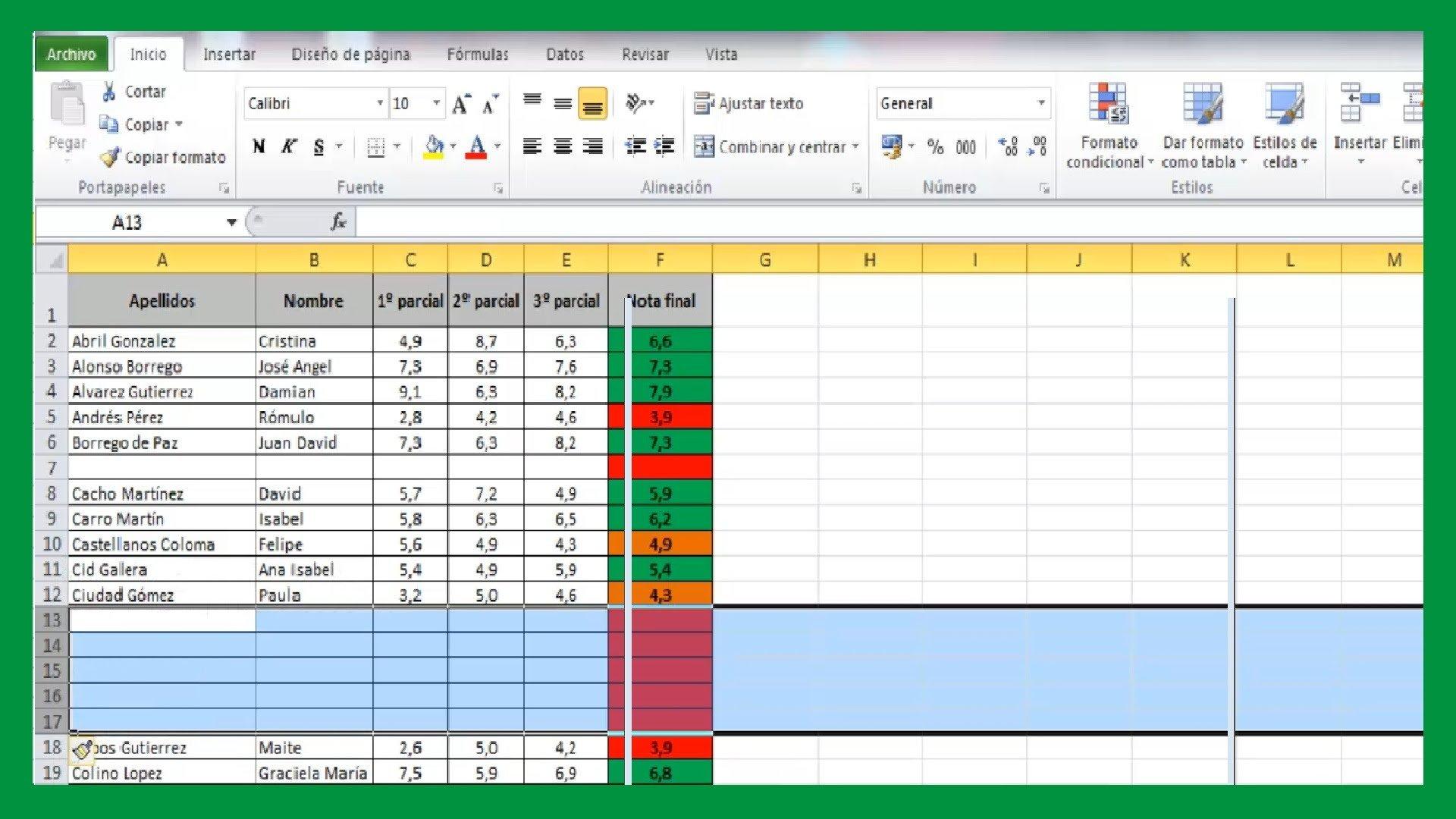 Excel – Añadir una o varias filas en Excel. Insertar columnas.