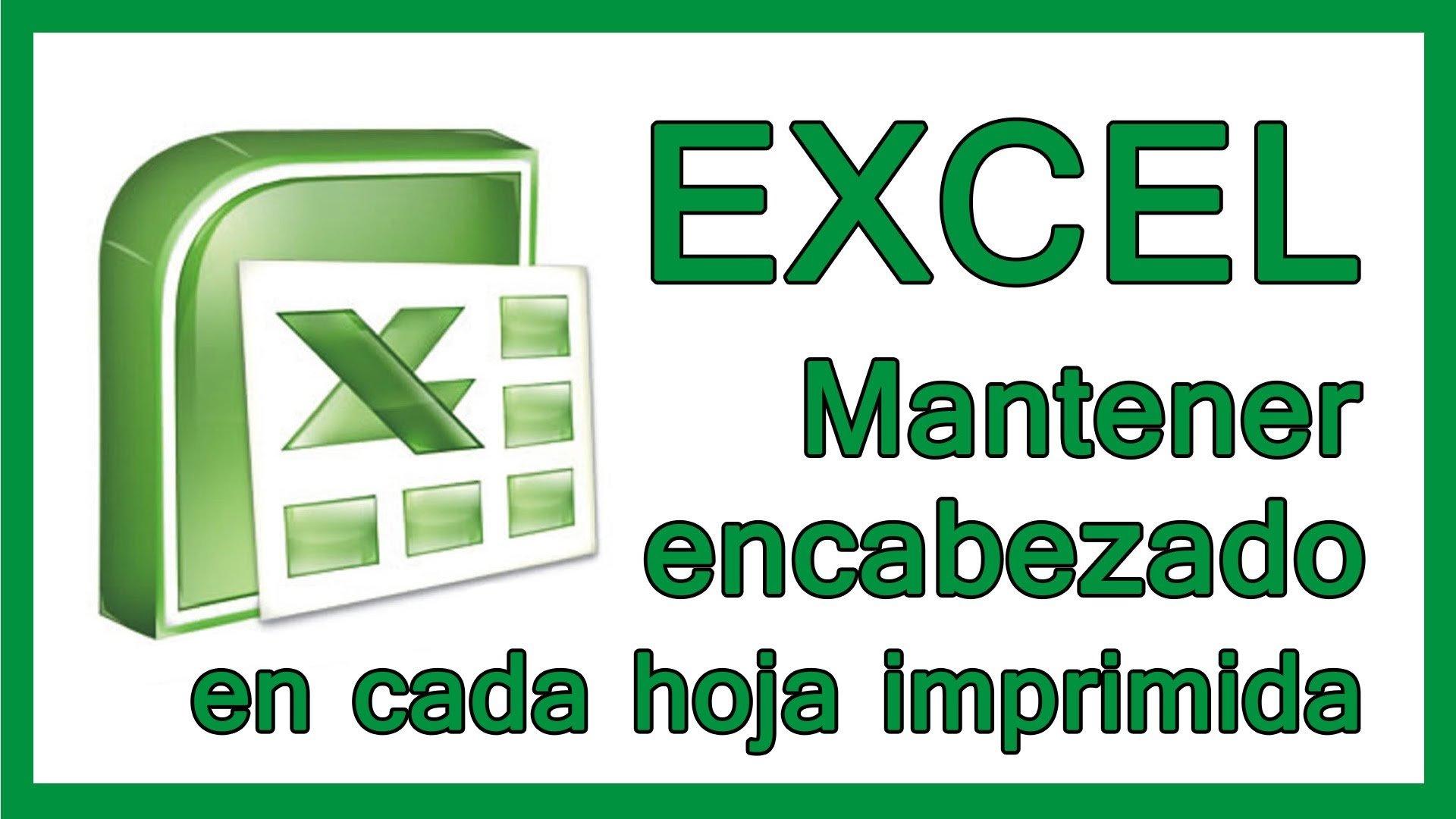 Excel – Repetir los títulos de las tablas en todas las hojas de impresión.
