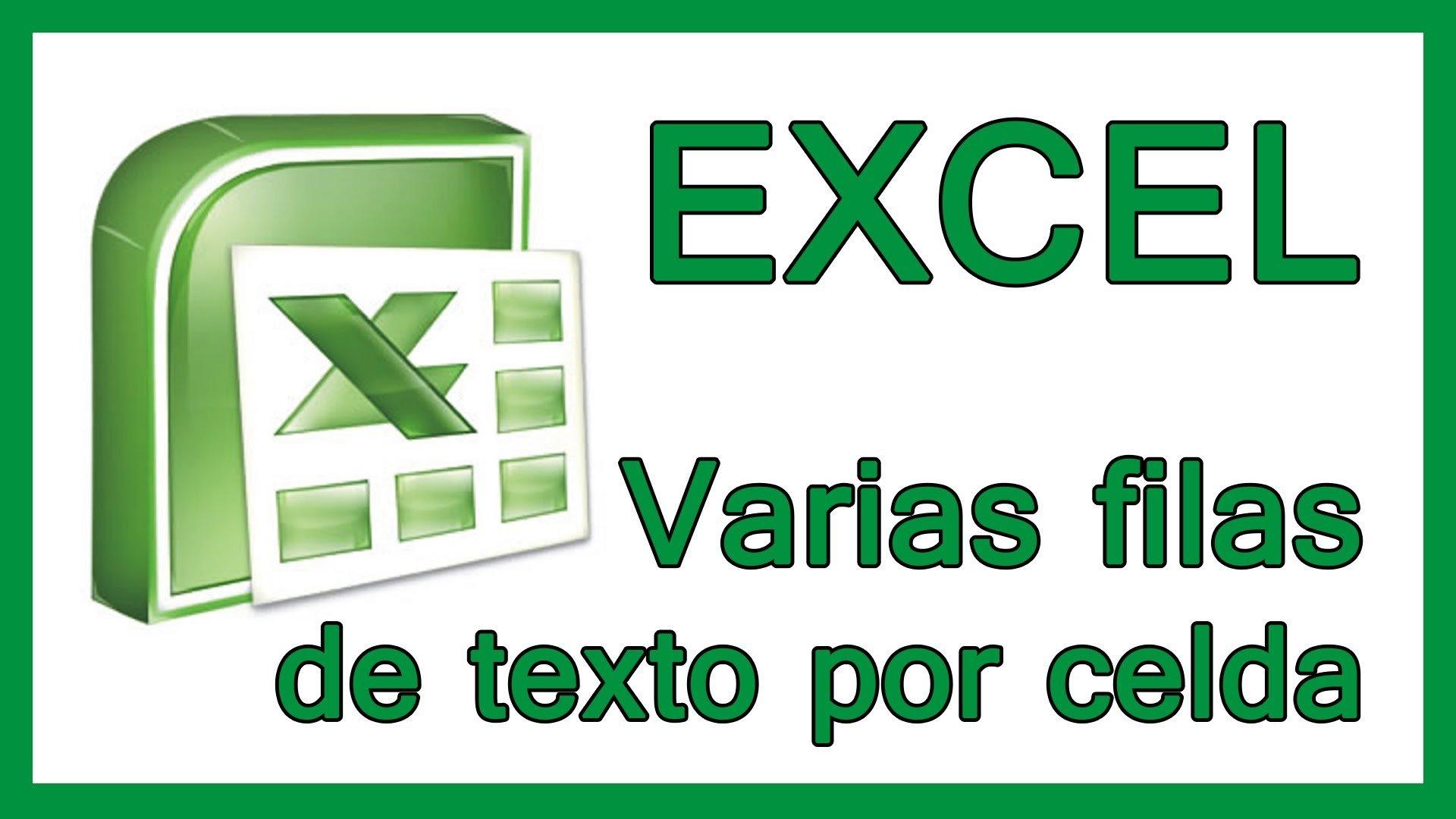 Excel – Varias filas de texto en una celda. Salto de línea en una celda.