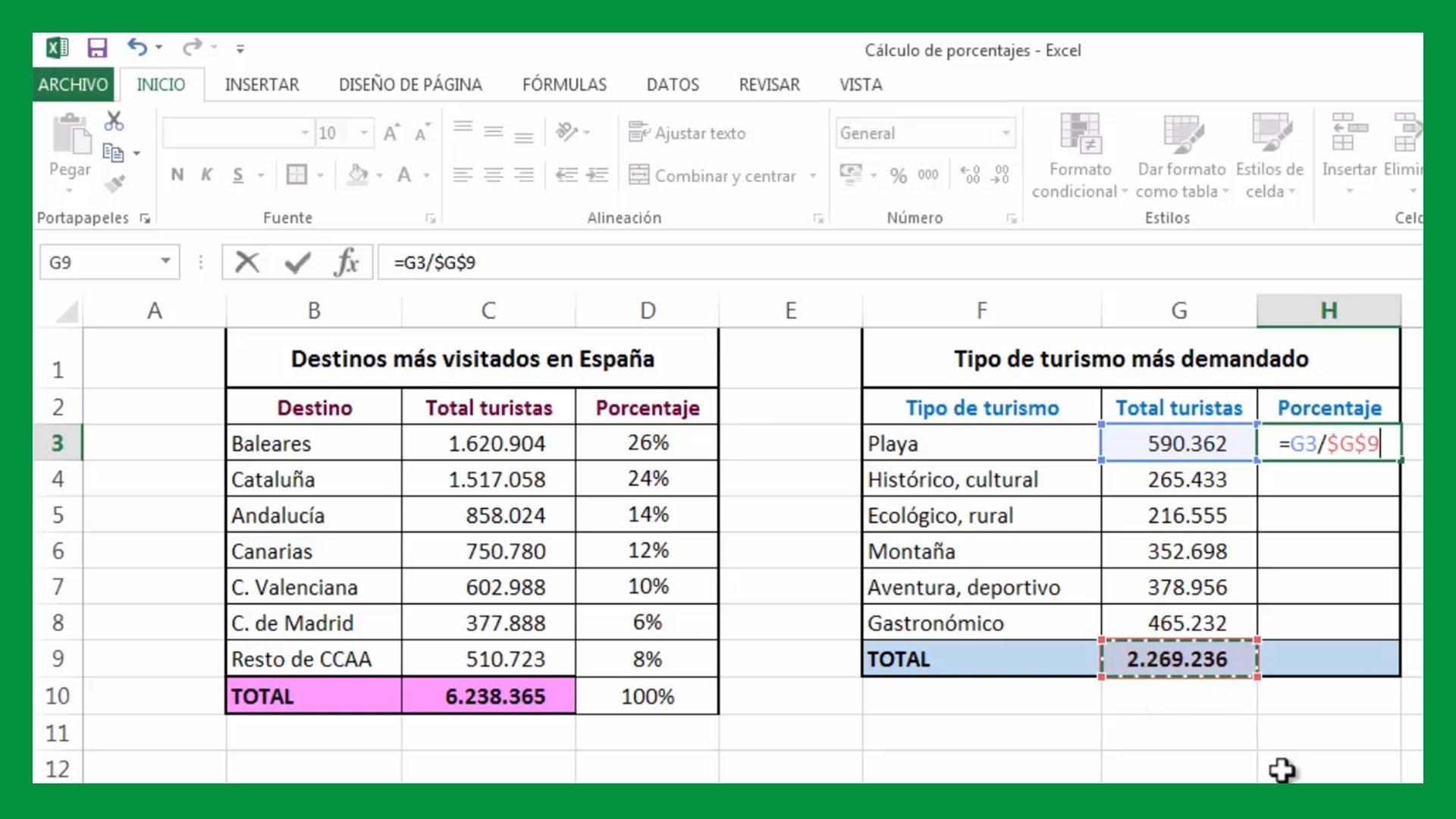Excel – Cálculo de porcentajes. Fijar celda en fórmula. Cálculo por ciento en Excel.