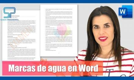 Marca de agua en Word, insertar y editar
