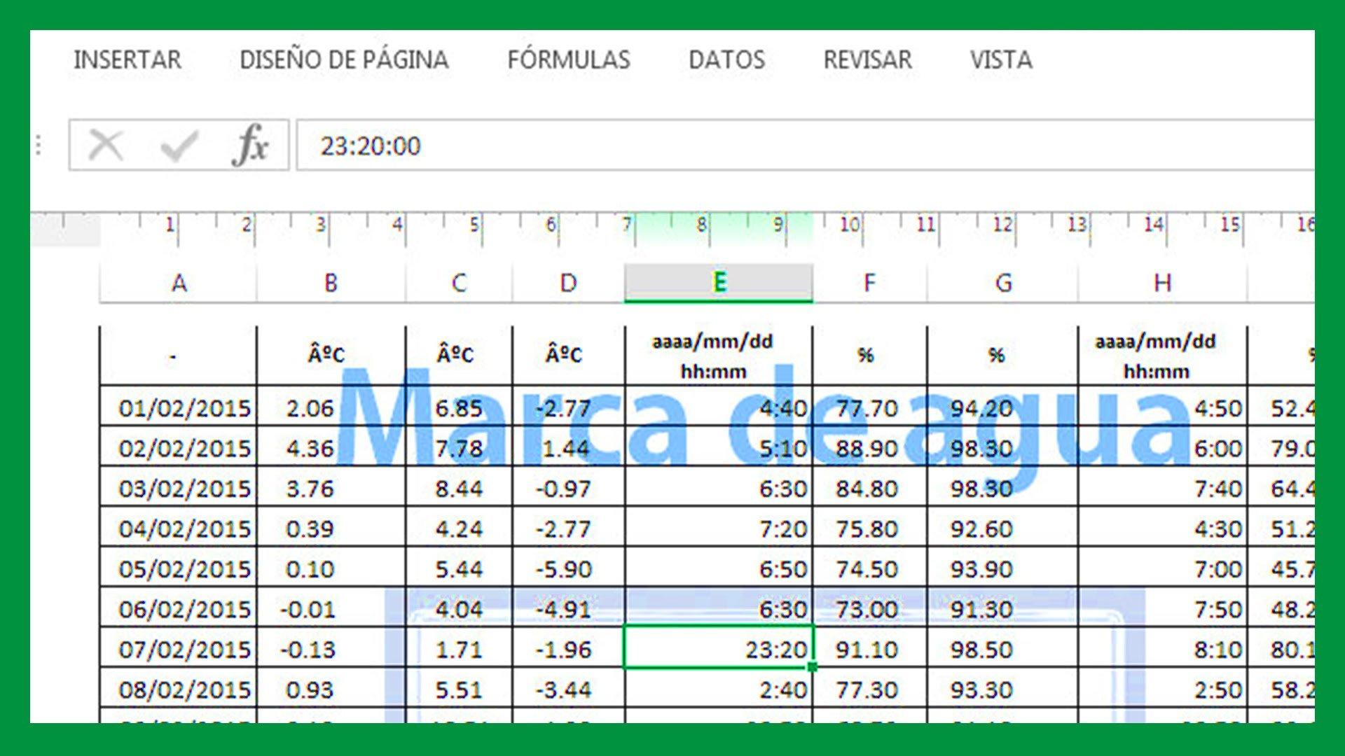 Excel – Imagen como marca de agua. Marca de agua en Excel.