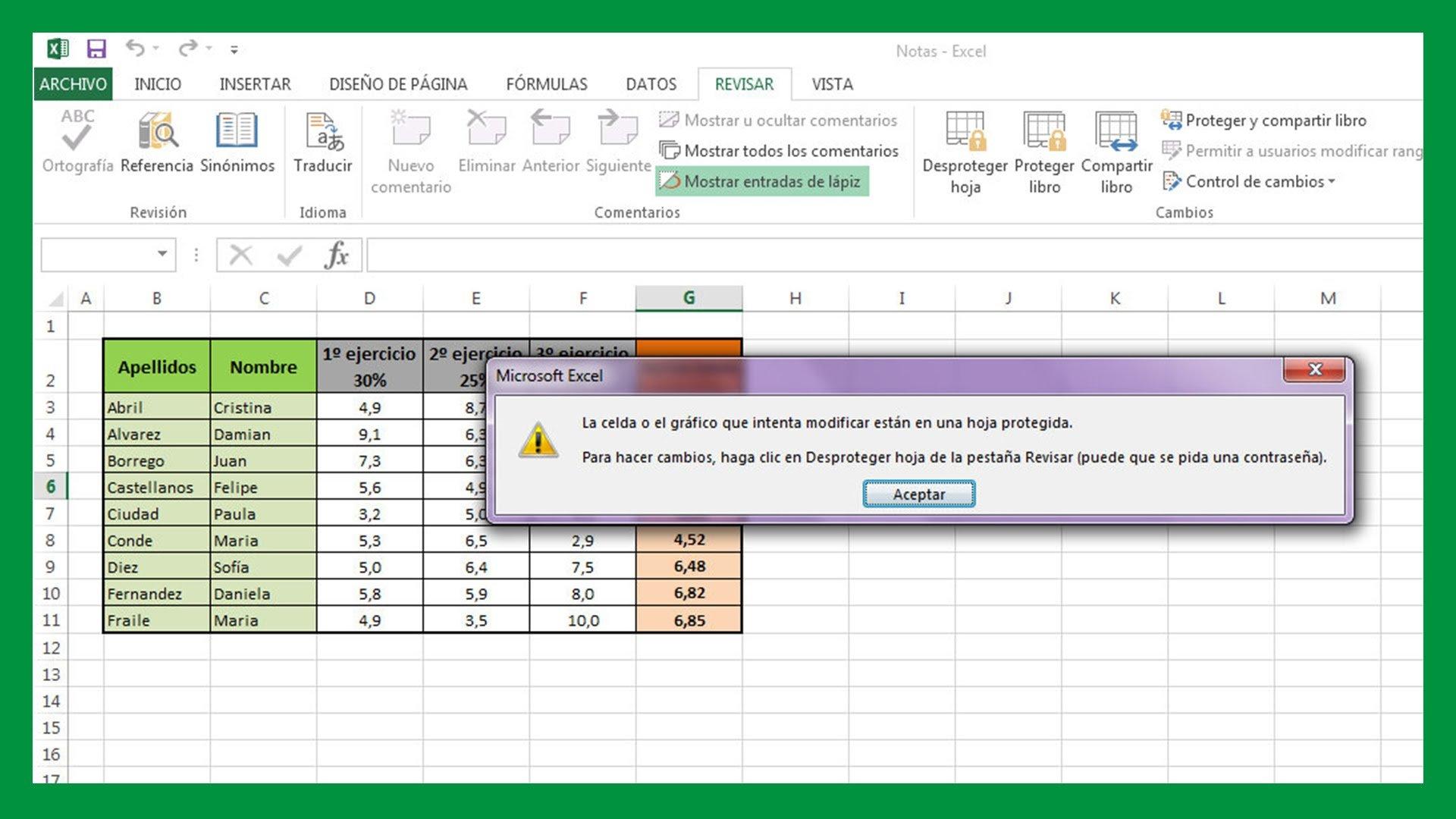 Excel – Bloquear celdas y ocultar fórmulas en Excel