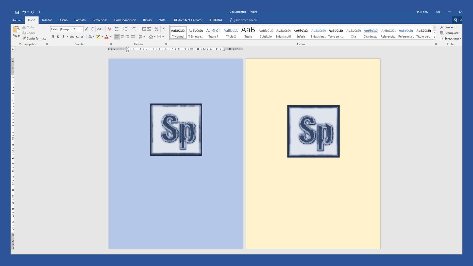 Cambiar color de fondo en Word