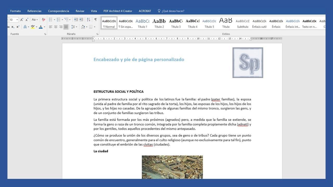 Word – Agregar y modificar encabezados y pies de página diferentes en Word.