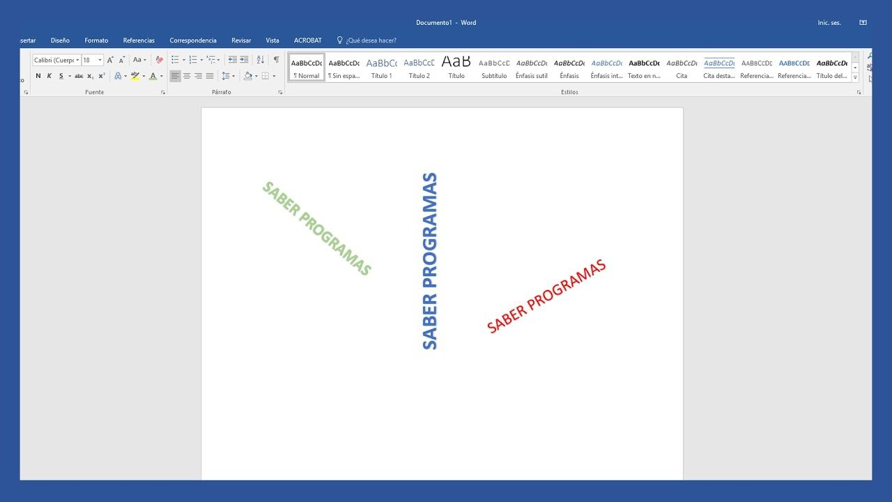 Word Escribir Texto Vertical En Word Saber Programas