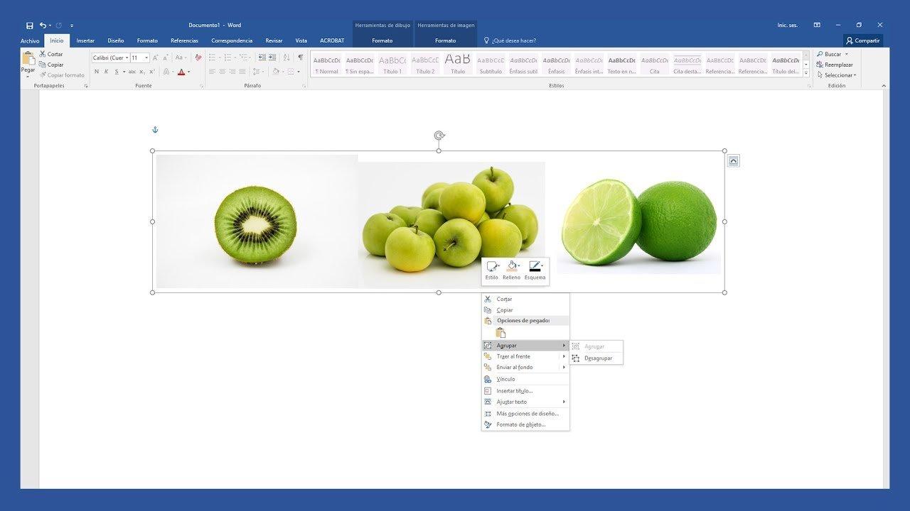 Word – Agrupar imágenes en Word. Juntar fotos en una sola.