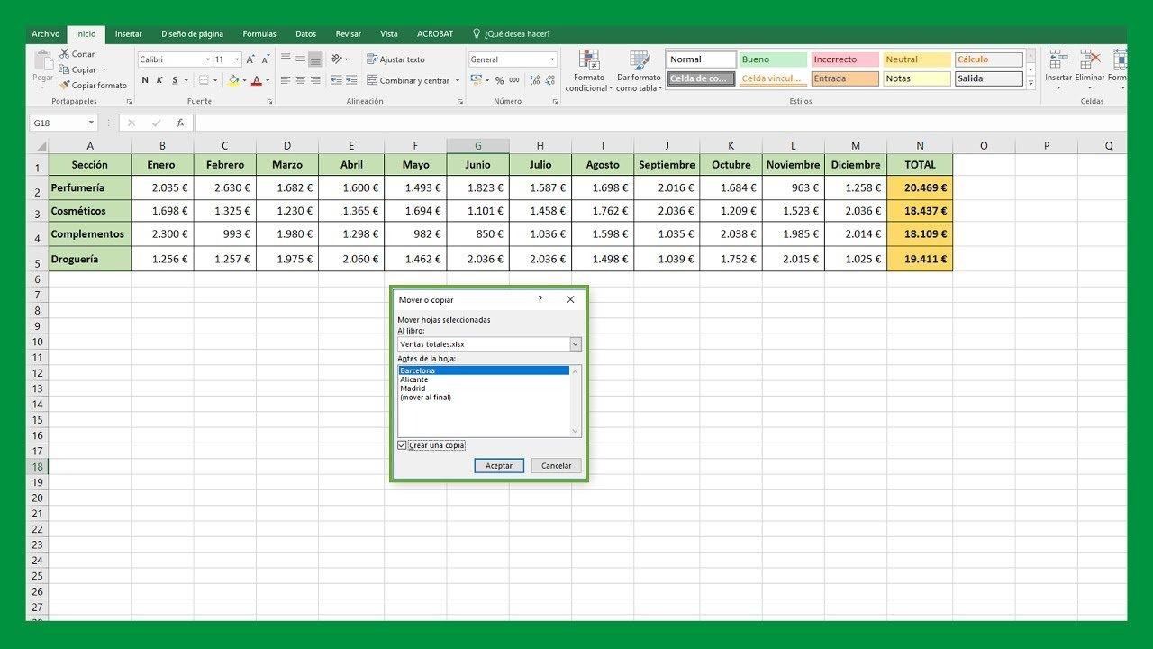 Excel – Cómo mover o copiar hoja de Excel a otro libro