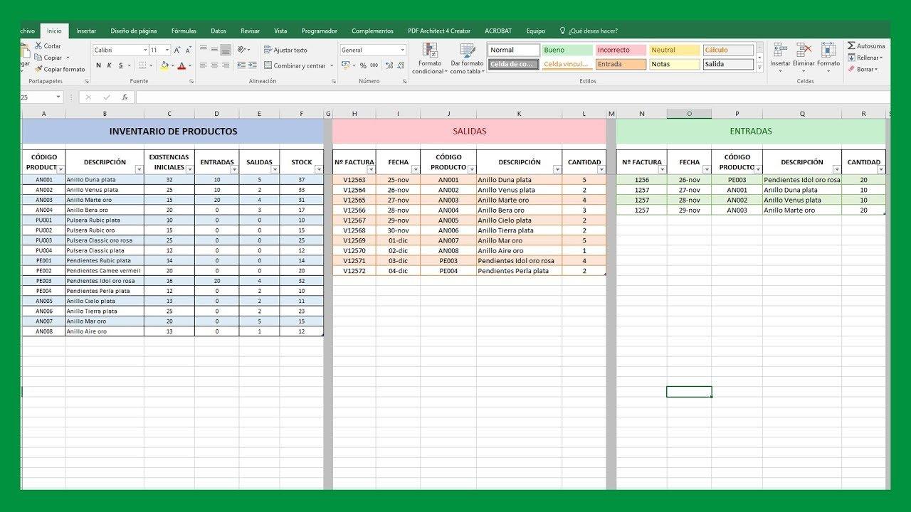Inventario y stock en Excel para tu negocio