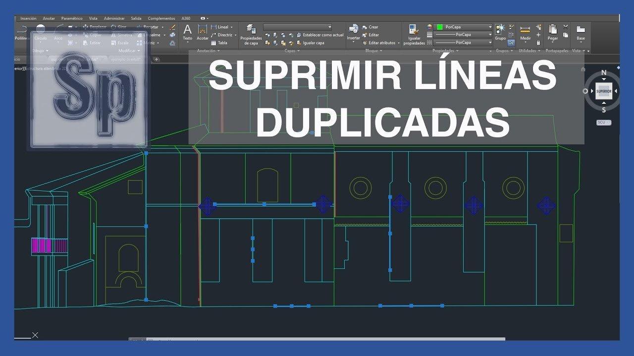 Suprimir líneas duplicadas en Autocad