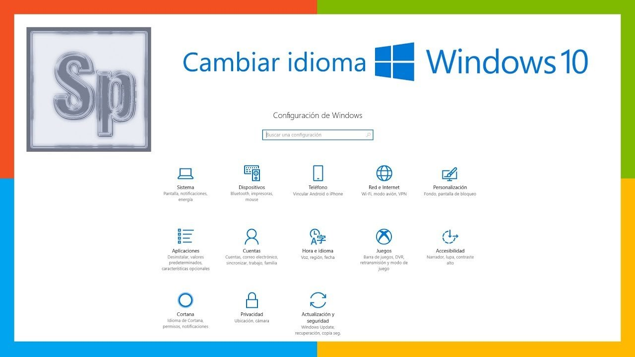 Cómo cambiar idioma de Windows 10