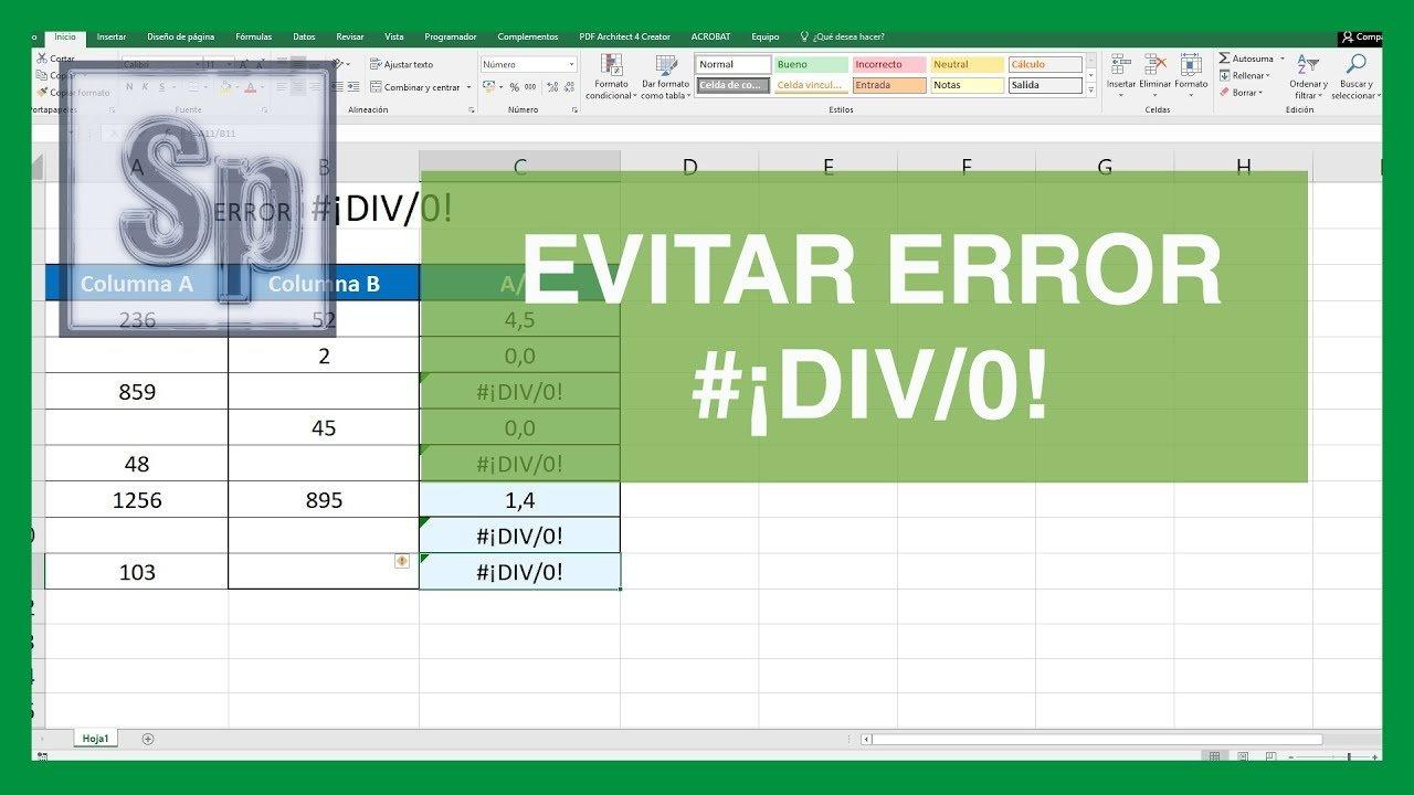Excel – Ocultar el error #¡DIV/0! en Excel.