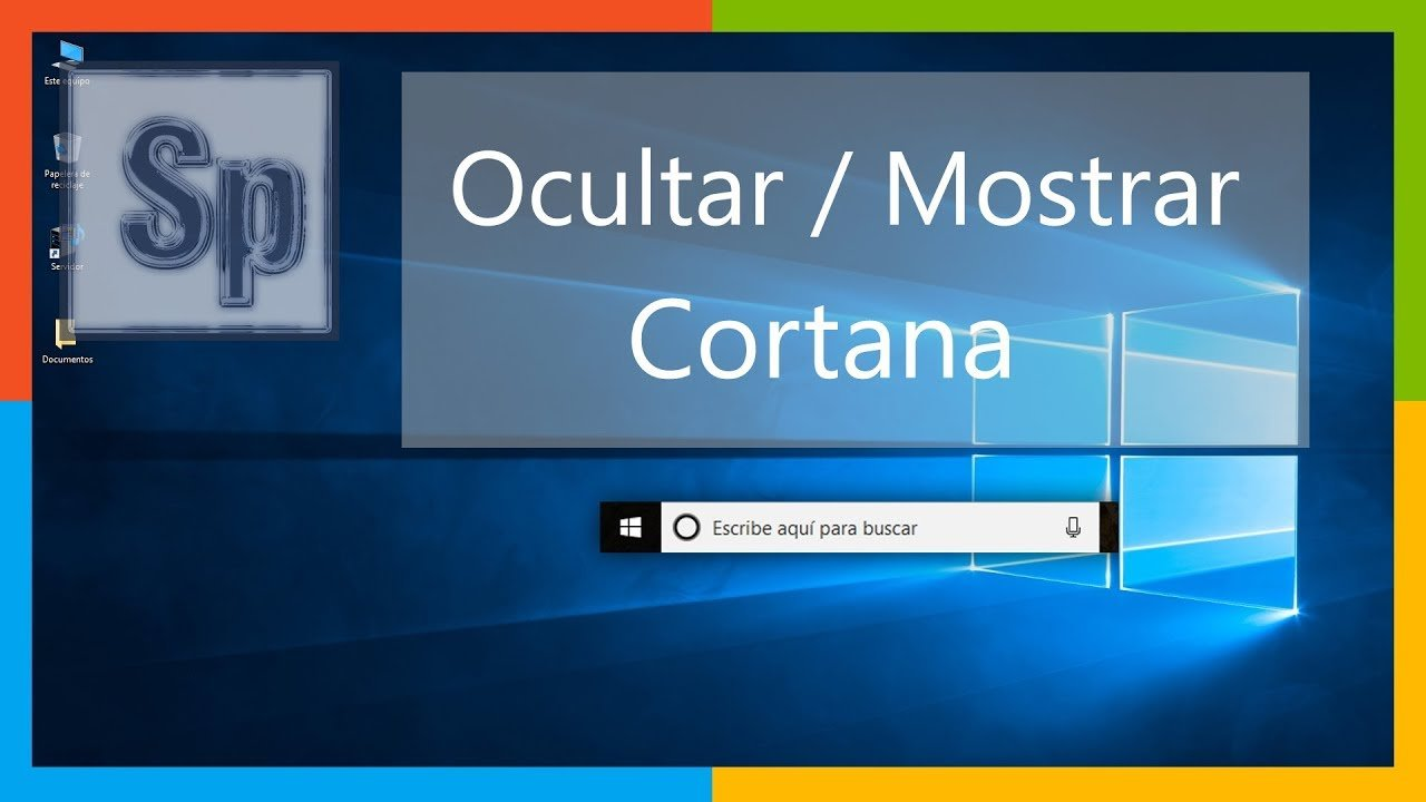 Cómo ocultar / mostrar Cortana en Windows 10