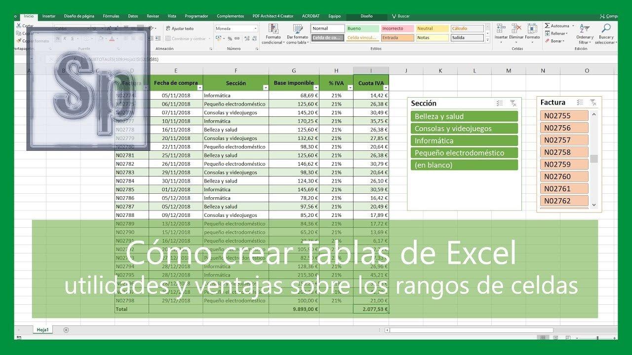 Cómo crear tablas de Excel y sus ventajas