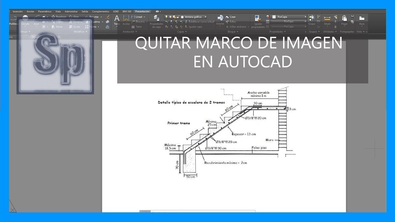 Cómo quitar el marco de una imagen en Autocad