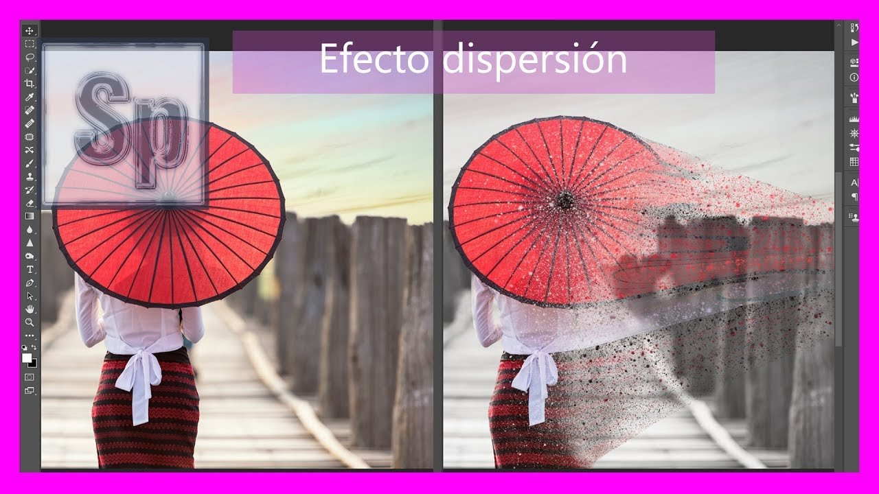 Crear efecto dispersión en Photoshop