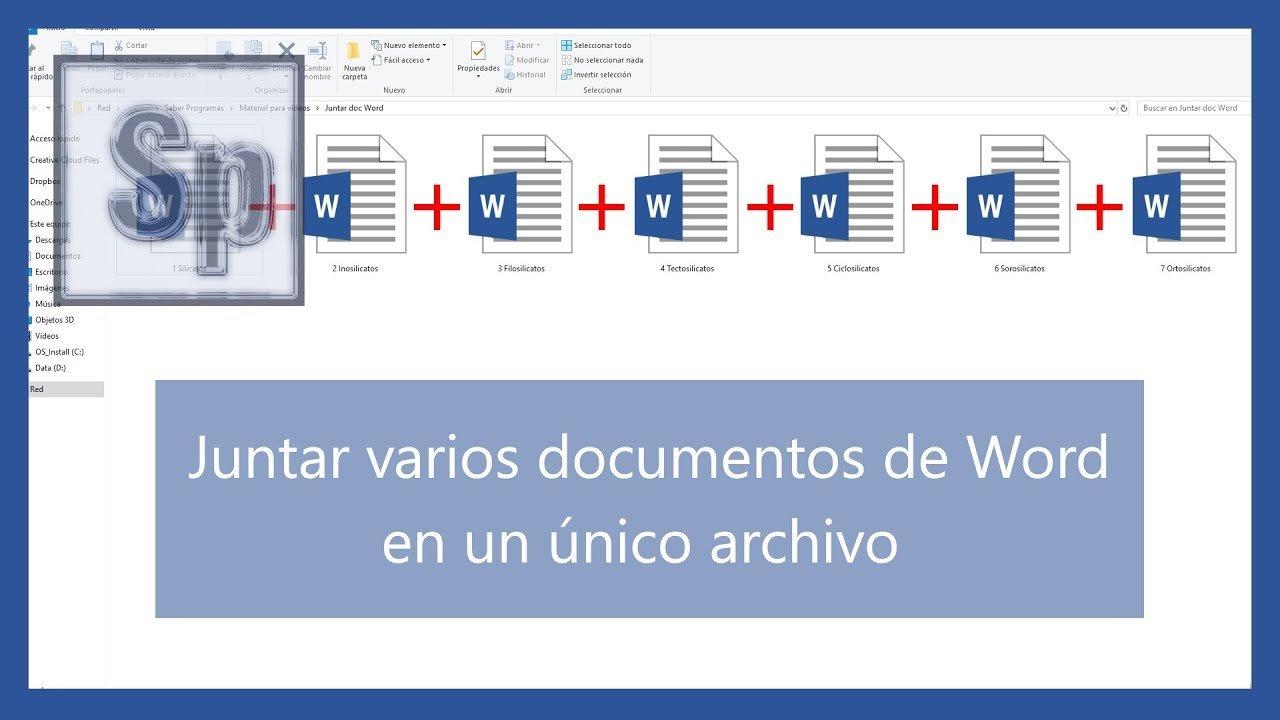 Juntar varios documentos de Word en uno solo - Saber Programas