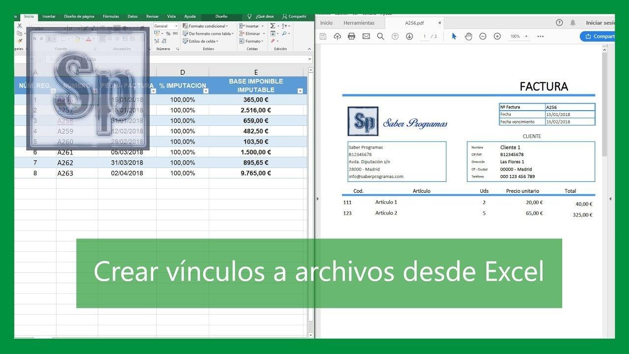 Vincular archivos desde Excel