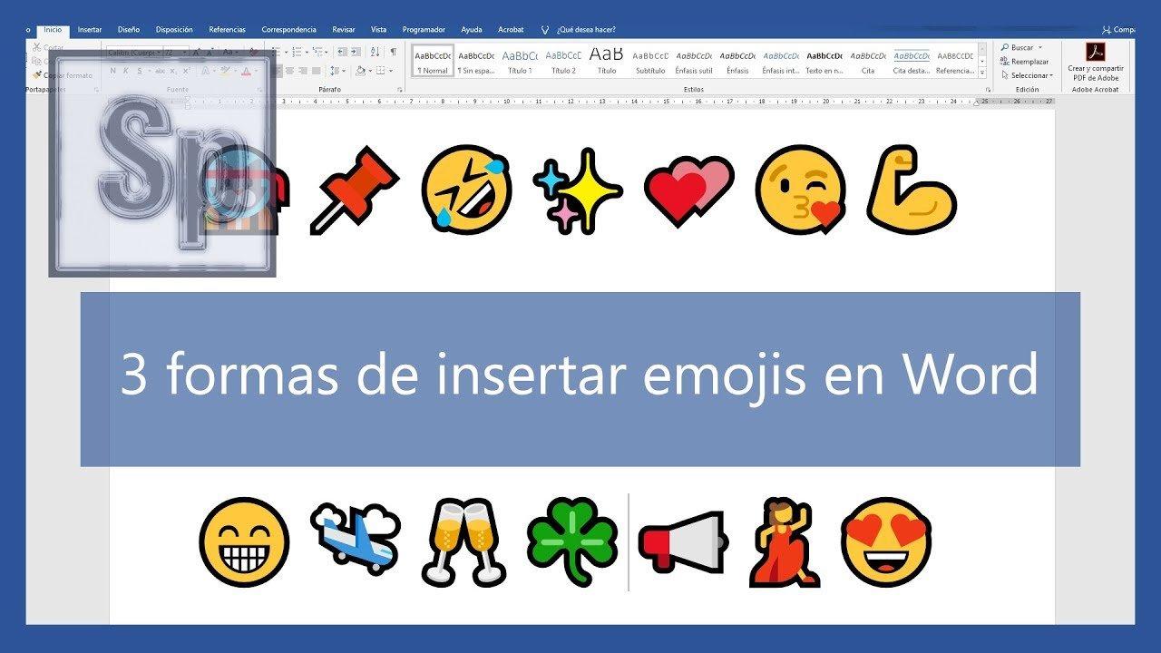 3 formas de insertar emojis en Word