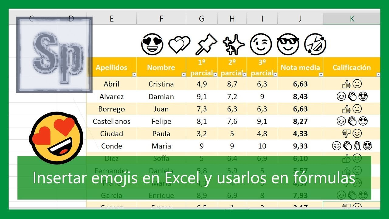 Cómo insertar emojis en Excel ??