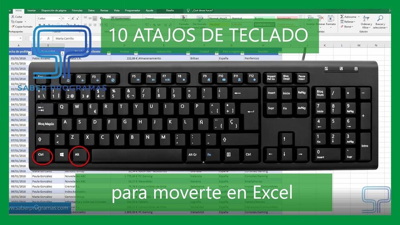 10 atajos de teclado para desplazarte en Excel