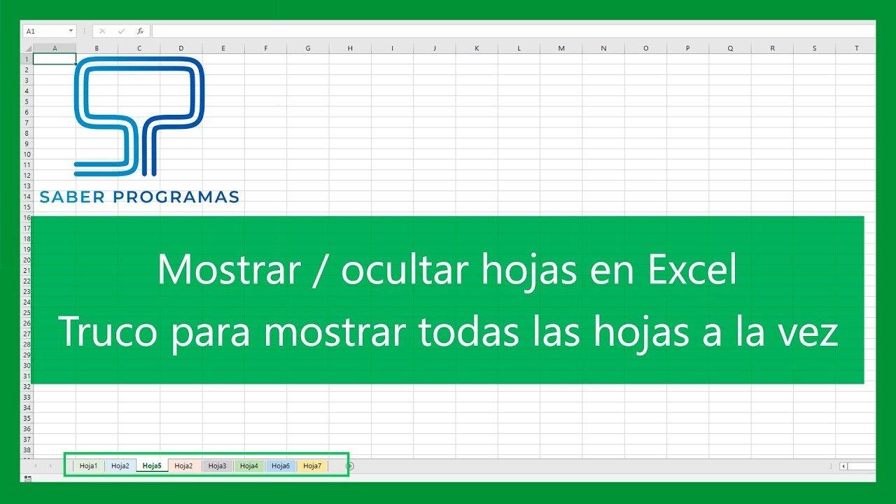Ocultar y mostrar hojas en Excel