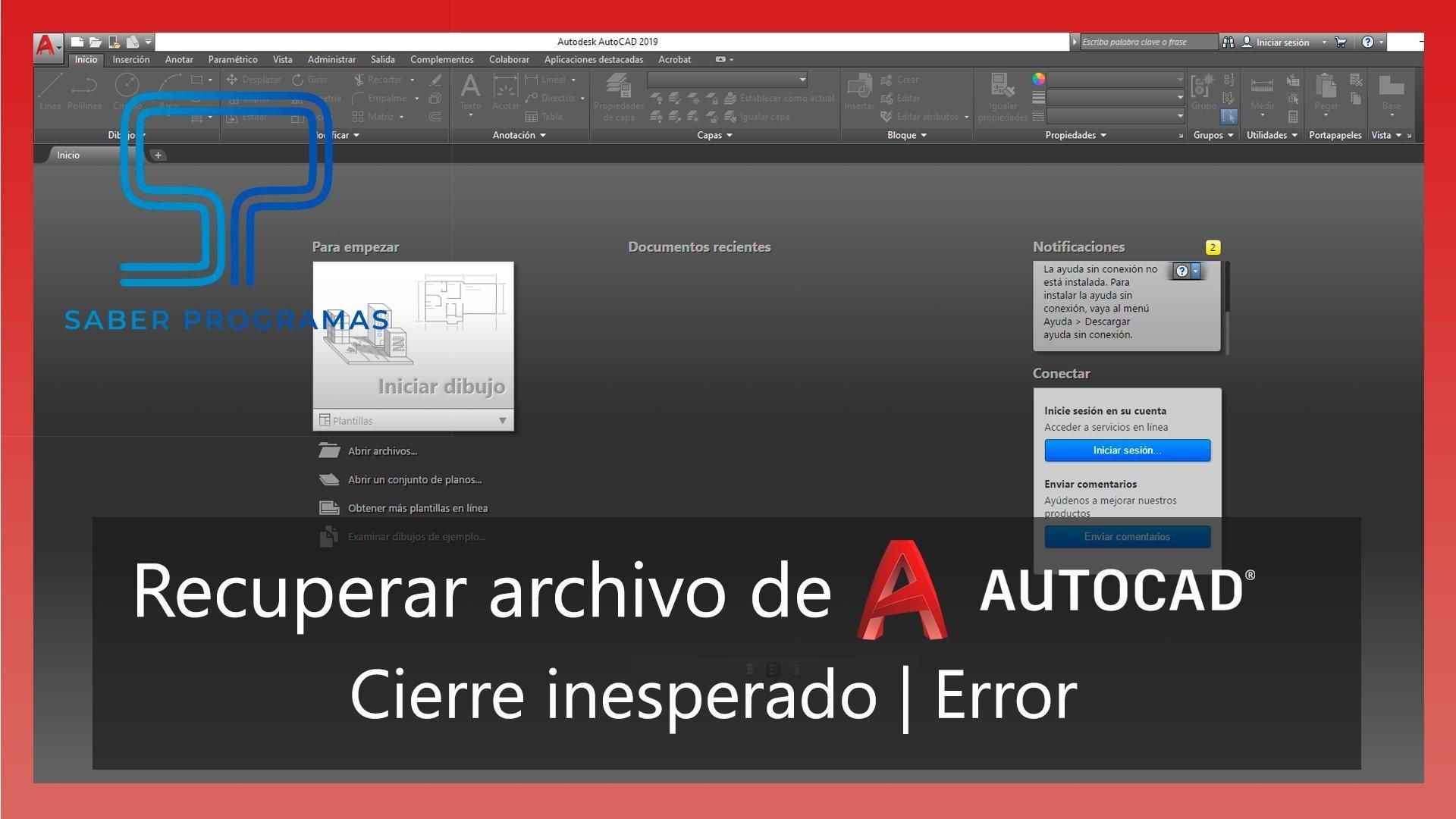Recuperar archivos de Autocad