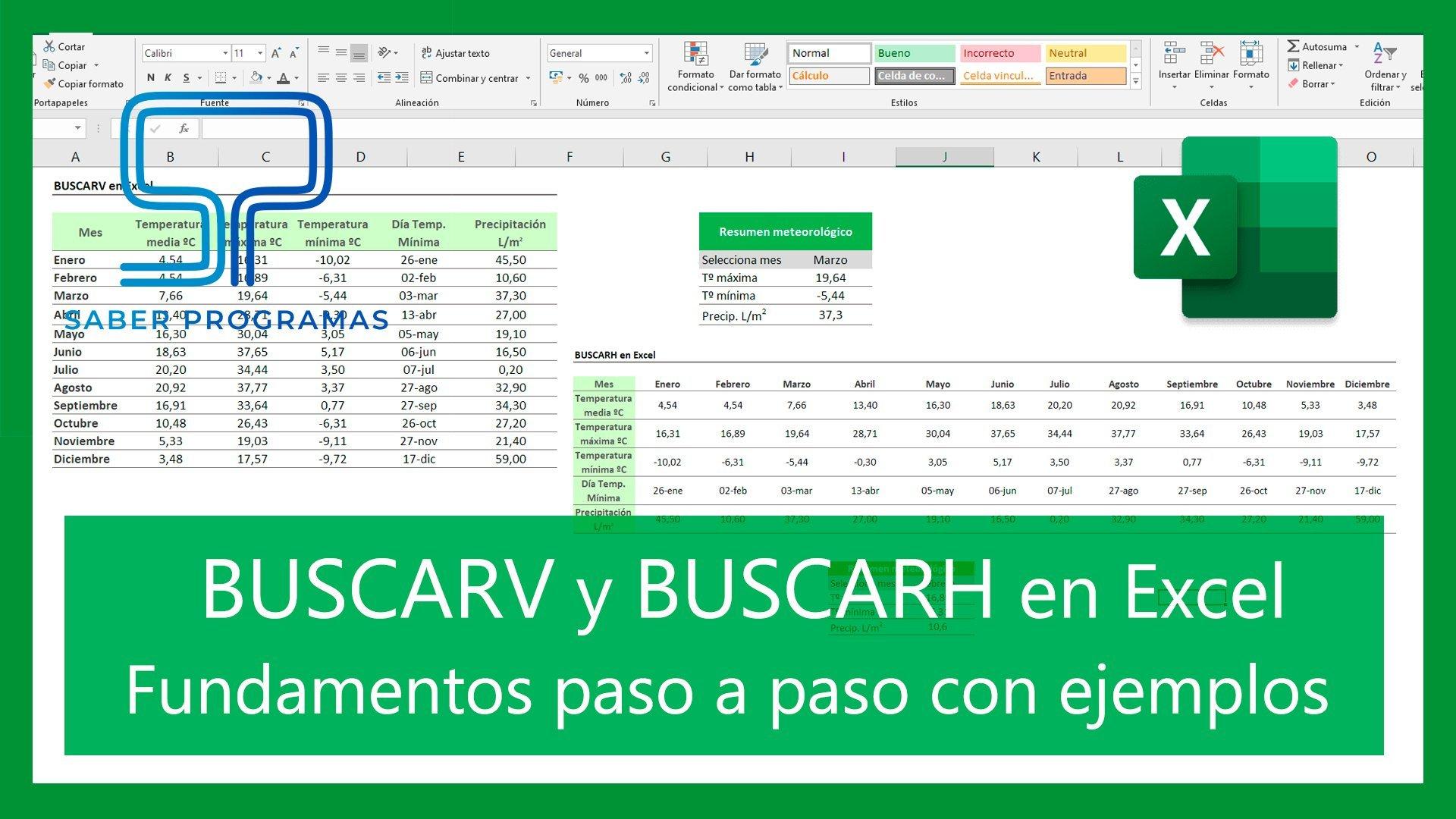 BUSCARV y BUSCARH en Excel