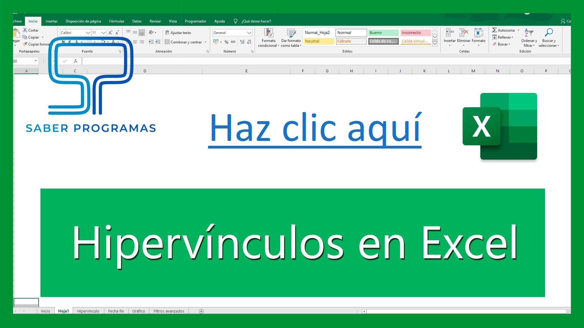TODO sobre HIPERVÍNCULOS en Excel