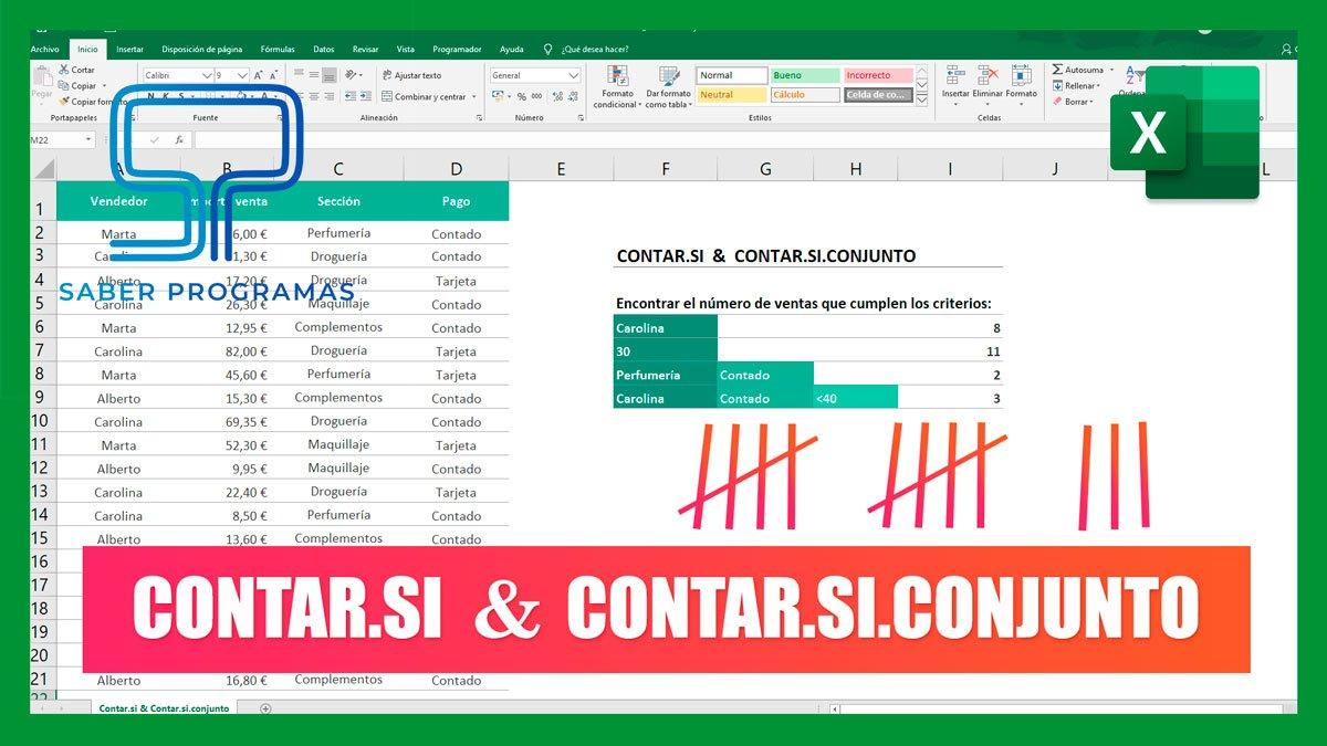 Contar.si y Contar.si.conjunto en Excel