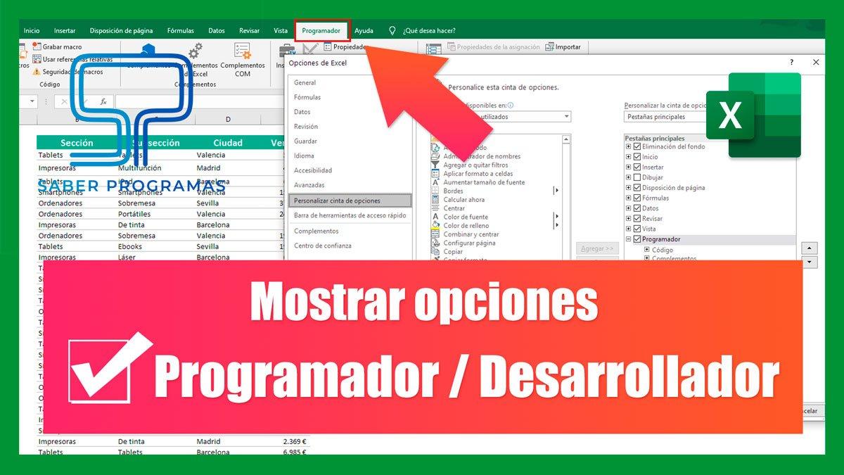 Habilitar Programador o Desarrollador en Excel