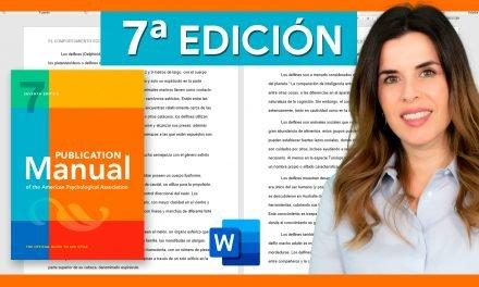 Normas APA 7ª edición en Word