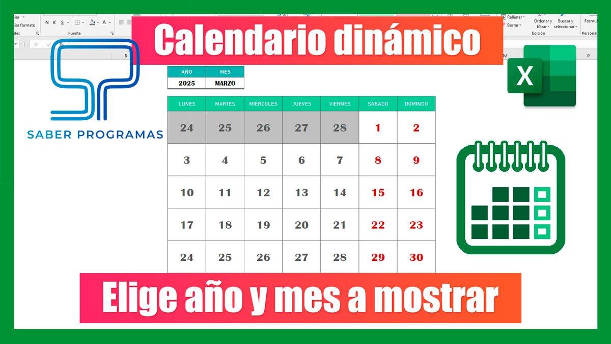 Calendario perpetuo en Excel sin macros
