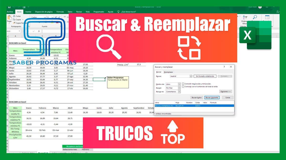 Buscar & Reemplazar en Excel | TRUCOS 🔝