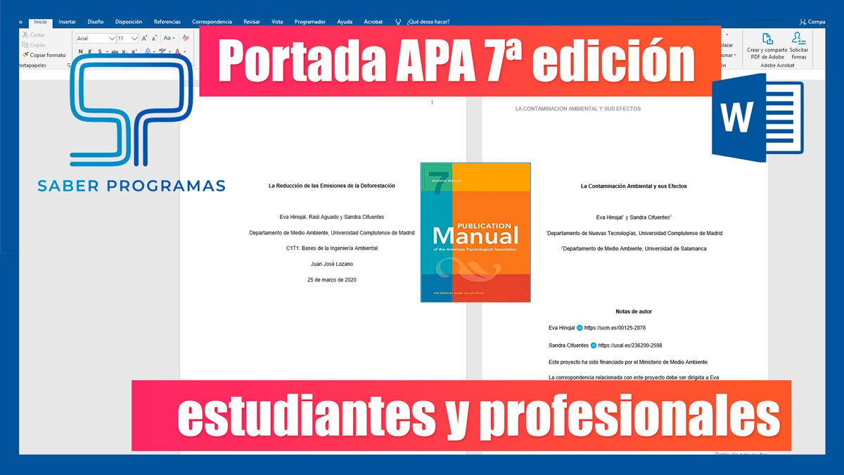 Portada normas APA 7 séptima edición